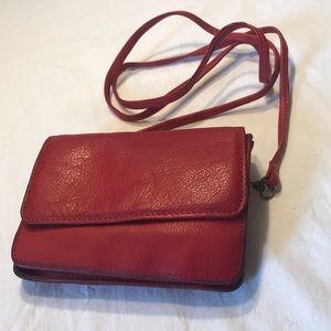 Wilson Vintage Leather Crossbody Wallet
